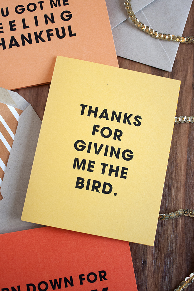 FREE printable Thanks For Giving Me The Bird card!