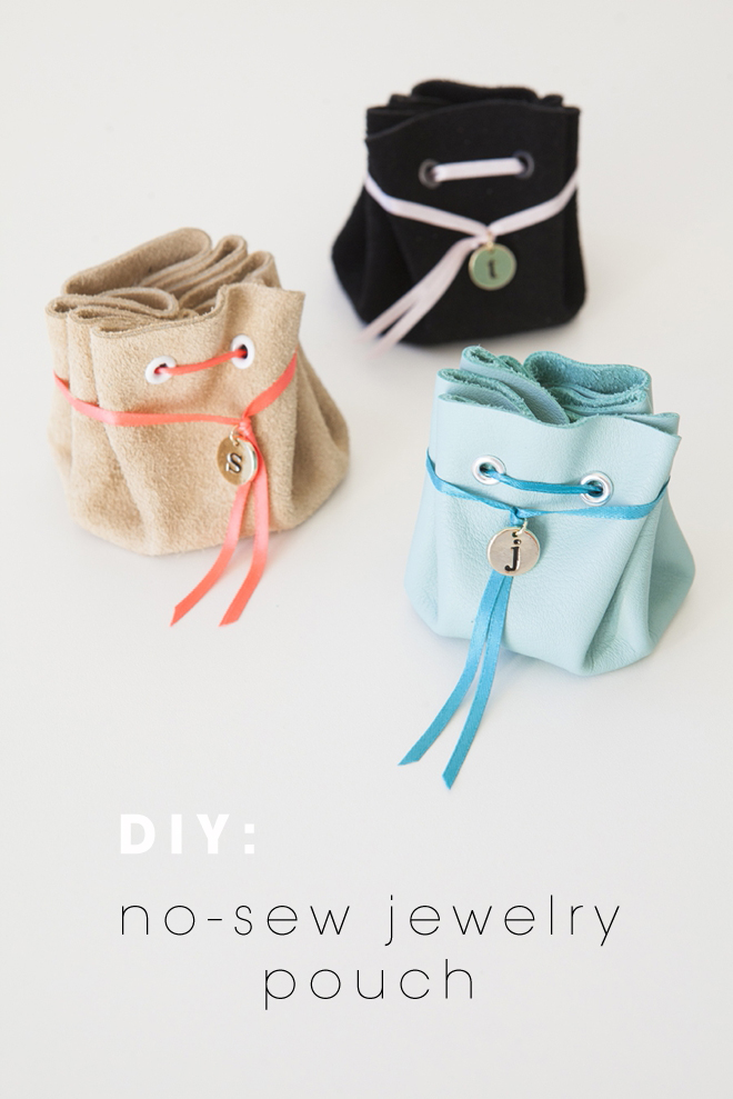 DIY no-sew jewelry pouch gifts from Something Turquoise