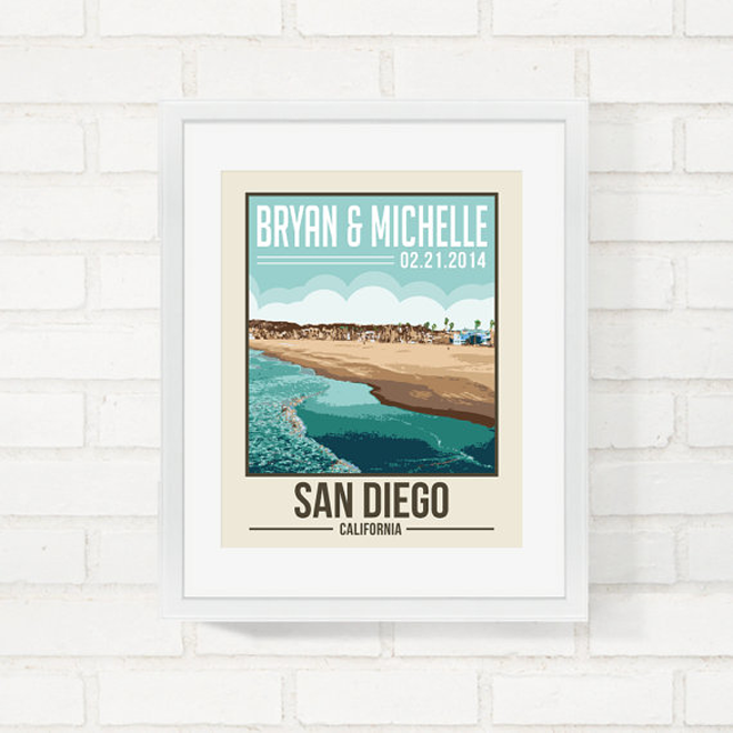 Darling custom travel poster