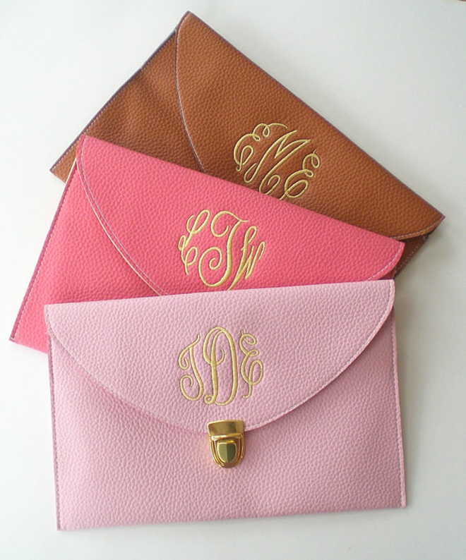 Gorgeous Bridesmaid Monogrammed Clutch