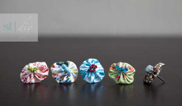 DIY boho push pins from Something Turquoise!