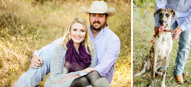 We love this darling country engagement session!