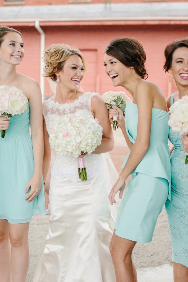 A Bride and Her Beautiful Bridesmaids!