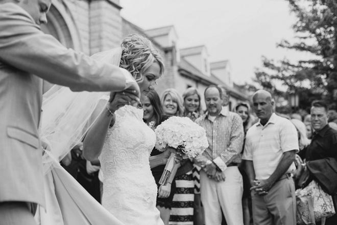 Darling wedding exit!