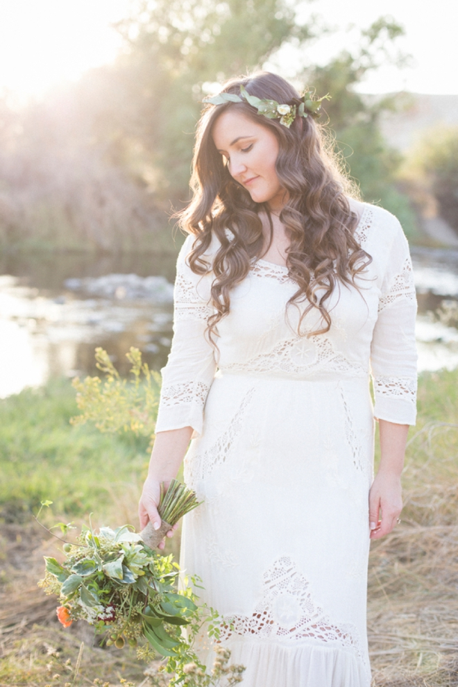 Gorgeous, boho wedding hair.