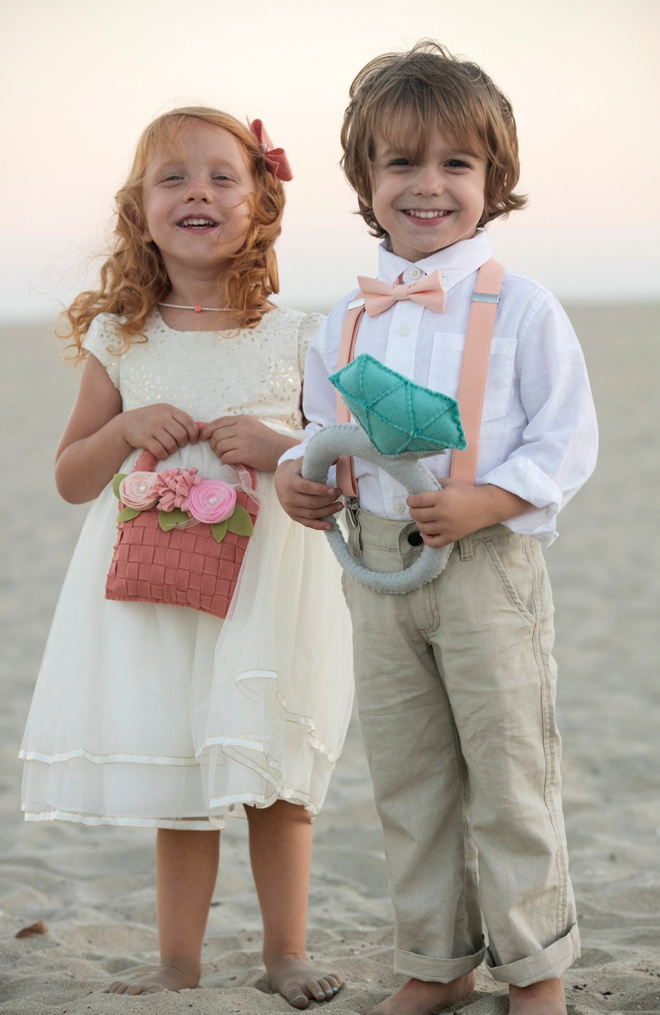 DIY felt flower girl and ring bearer elements!