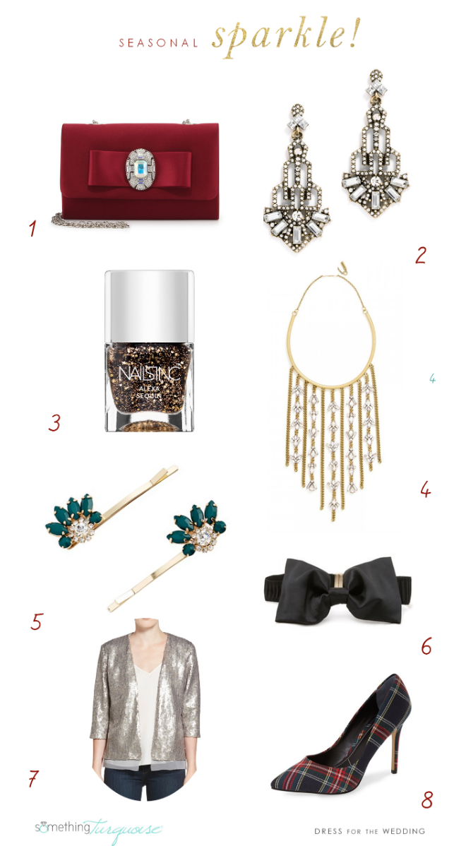 Holiday accessories to wear through the season | As seen on Something Turquoise style by Dress for the Wedding
