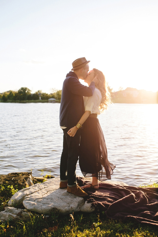 Gorgeous sunset engagement.