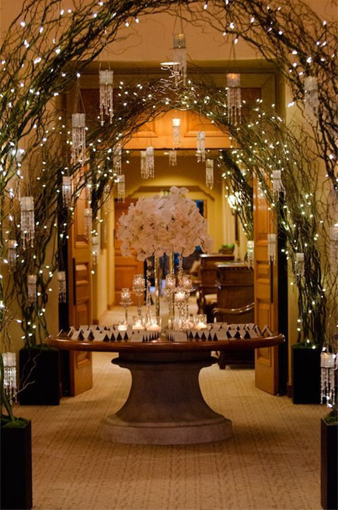 Welcome your guests with twinkly arches