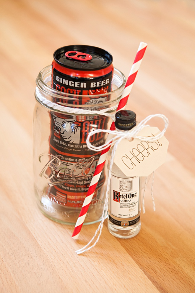 How to make your own mason jar cocktail gifts, Moscow Mule!