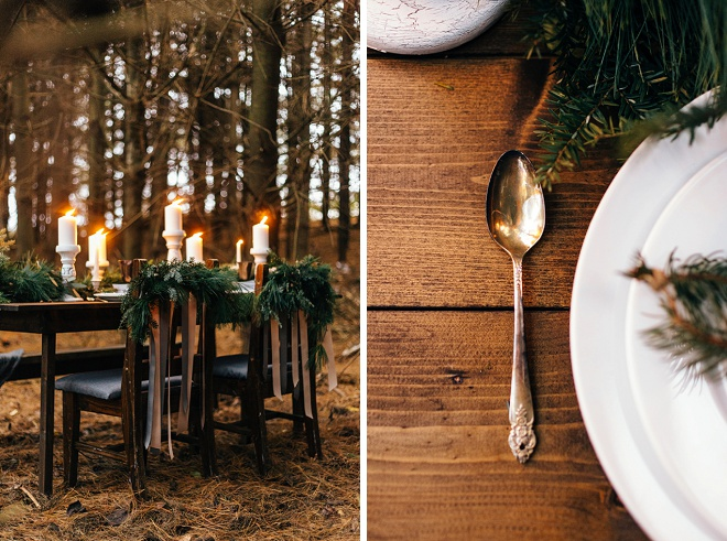 Gorgeous cozy holiday romance place setting!