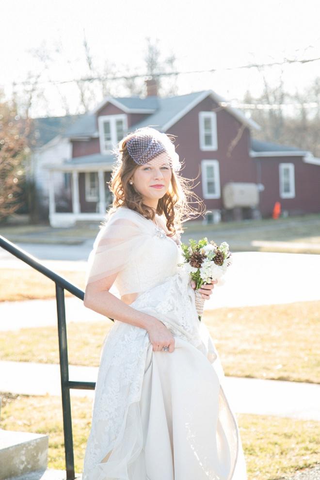 Darling winter wedding!