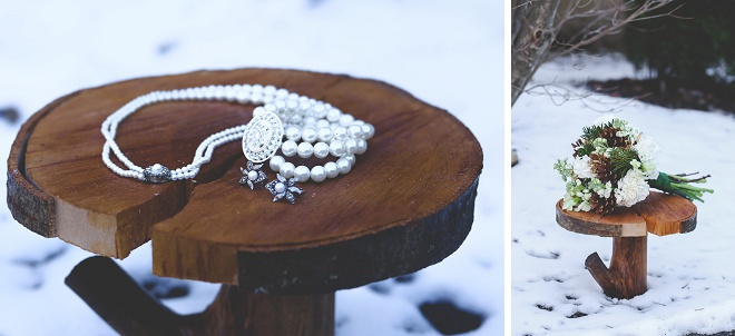 Darling details of DIY winter wedding!