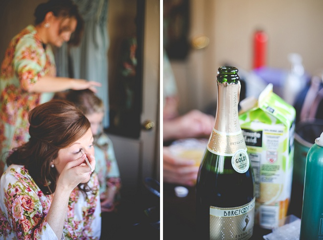 Lovely bride getting ready for the big day!