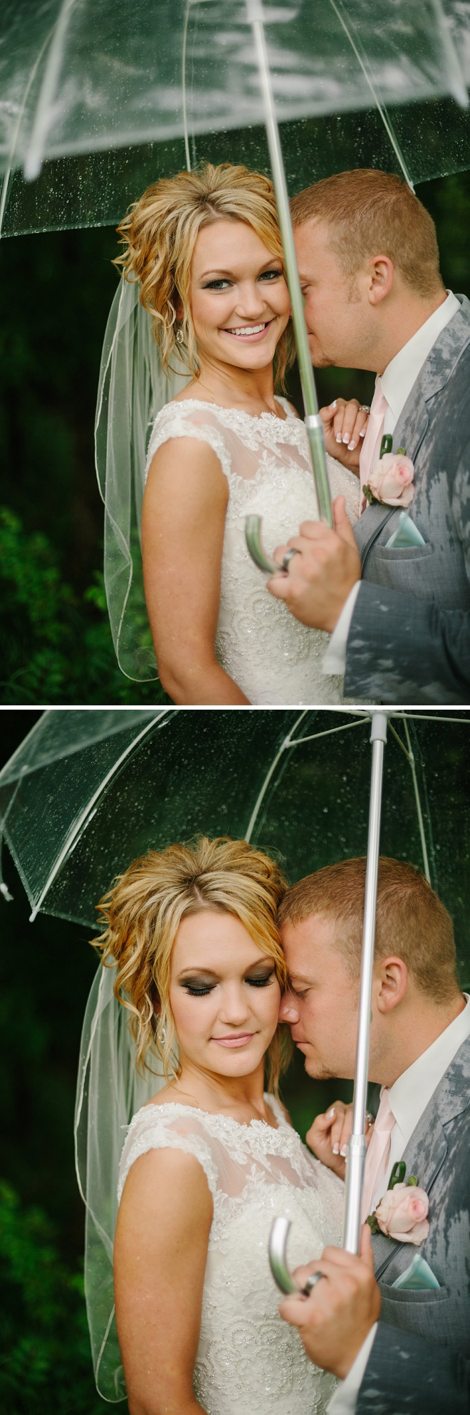 Gorgeous rainy day wedding!