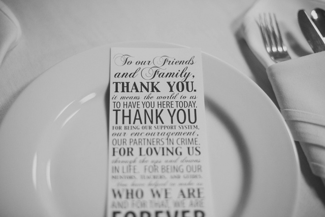 We love this thank you card at this gorgeous DIY wedding!