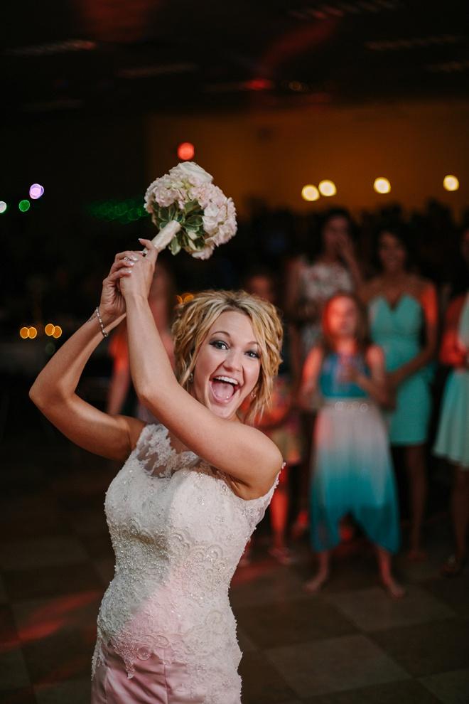 Gorgeous bouquet toss!