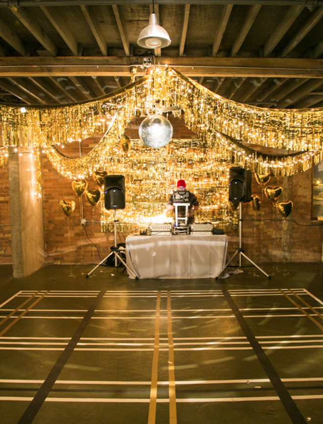 Twinkle lights and metallic fringe are a match made in heaven!