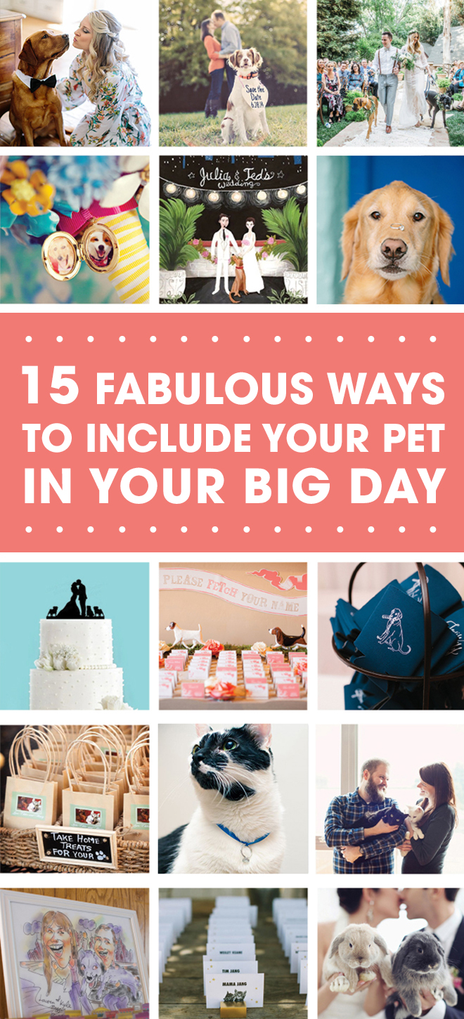 15 Fabulous Ways To Include Your Pet In Your Big Day!
