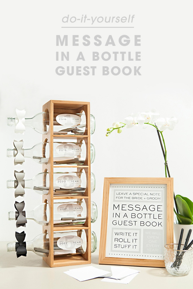 Check Out This Diy Message In A Bottle Guest Book