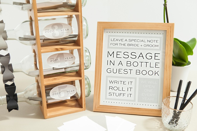 Check Out This DIY Message In A Bottle Guest Book!