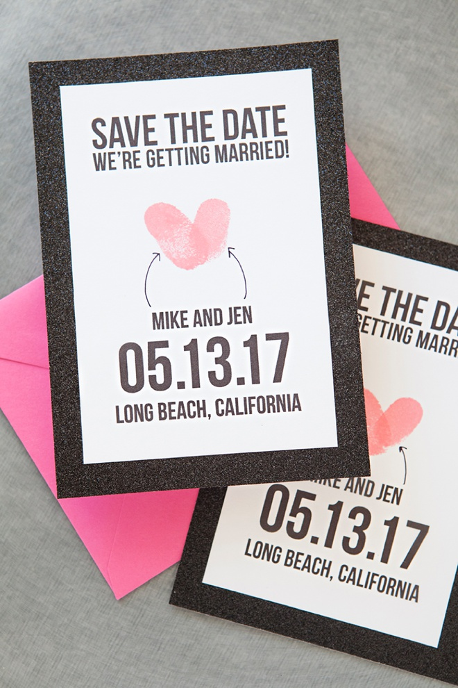 Make Your Own Thumbprint Heart Save The Dates - Design your own save the date template