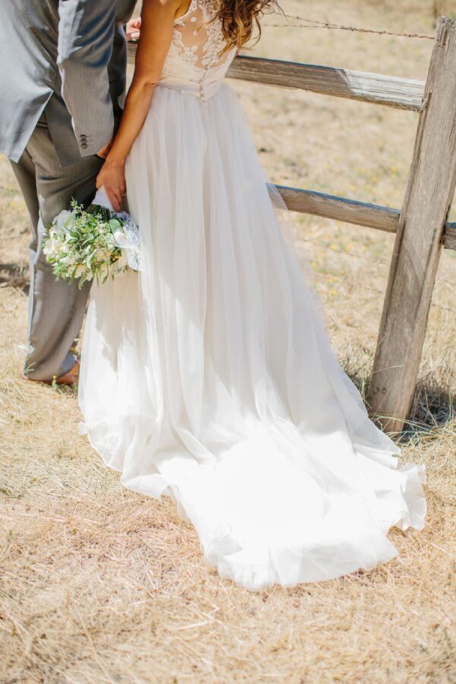 Gorgeous wedding dress shot!