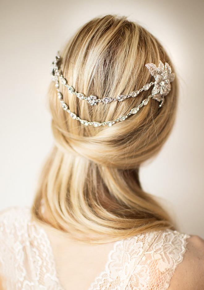 Lottie-da Designs Halo Hair Chain via Etsy