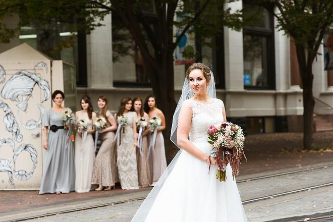 We love this gorgeous DIY art gallery wedding!