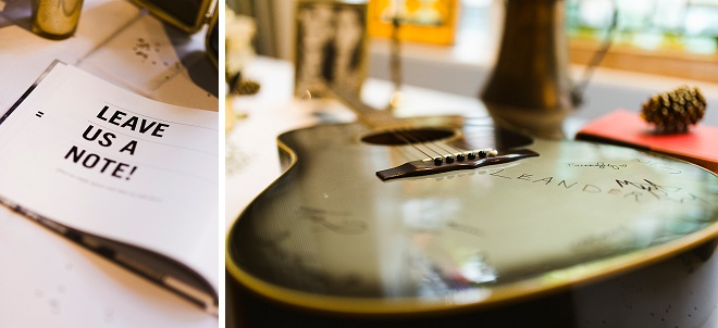 We love this DIY guest book guitar!