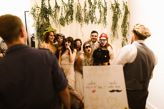 How fun is this DIY wedding photo booth? Love!