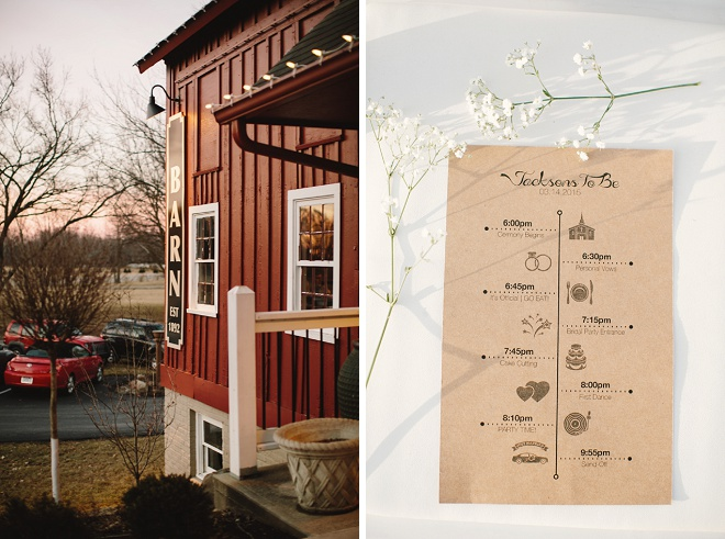We love this adorable wedding programs!