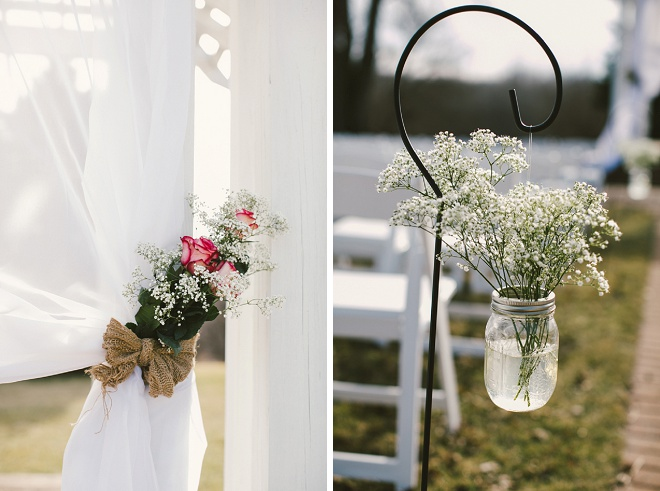 Gorgeous details at this wedding ceremony!