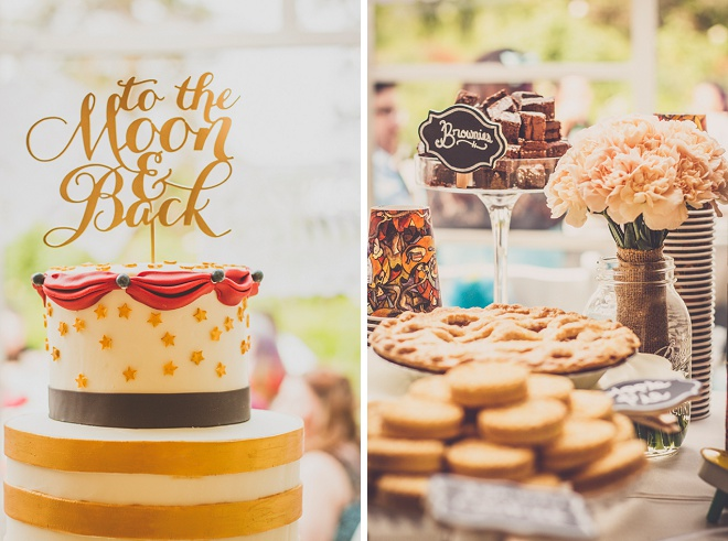 We're loving this fun, vintage carnival style wedding and it's gorgeous cake and dessert bar!
