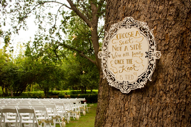 We're loving this sweet and fun ceremony sign!