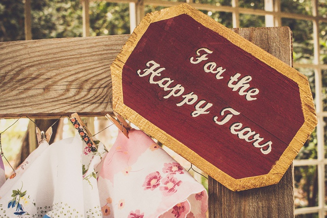 Such sweet details at this fun DIY carnival style wedding!