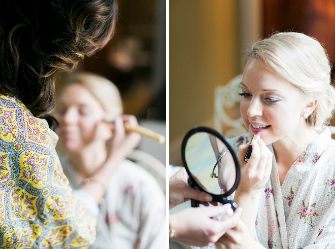 The gorgeous bride getting ready for the big day!