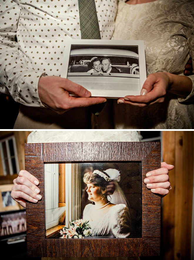 How darling are these family photos? We love that the bride wore her Grandmothers wedding dress!