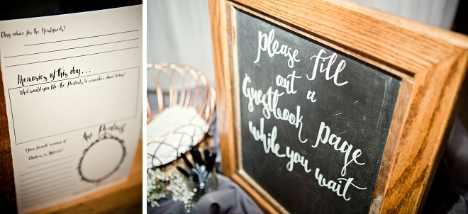We think this sweet guestbook is fun and interactive!