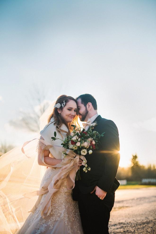 We love this gorgeous DIY gold detailed wedding!