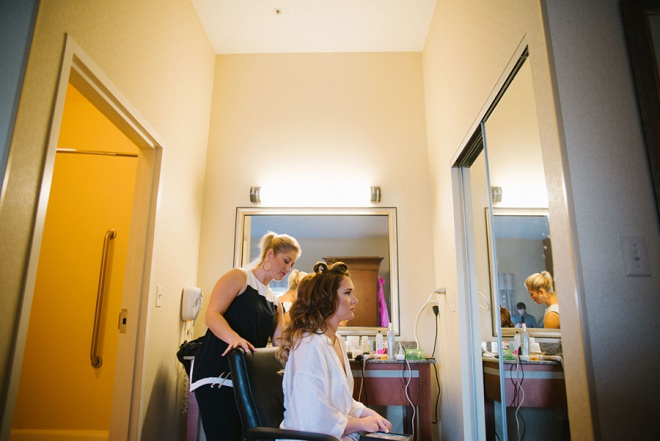 Bride getting ready for the big day!