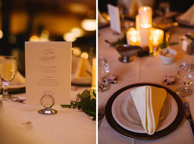 We love these DIY details at this gorgeous candle-lit wedding!