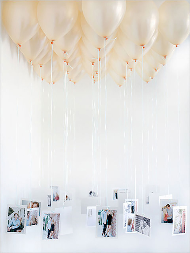 Check out this DIY Balloon Chandelier decor idea!