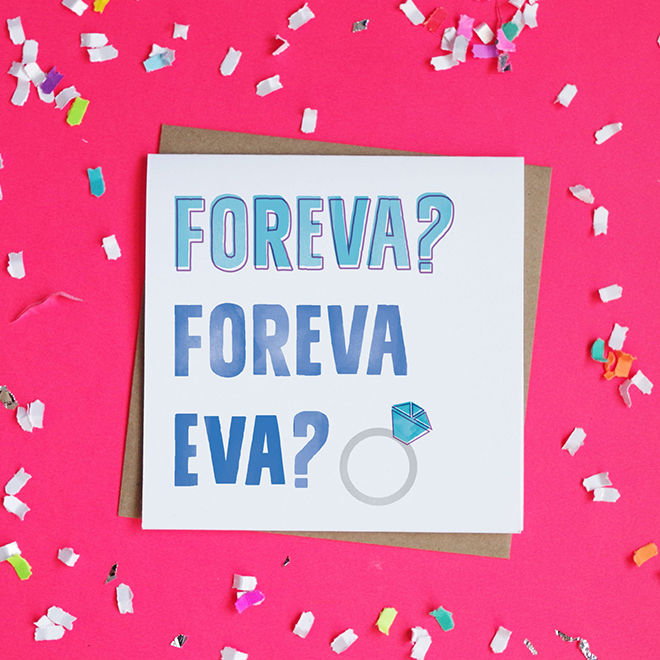 Forevea? Foreva Eva? Engagement Card