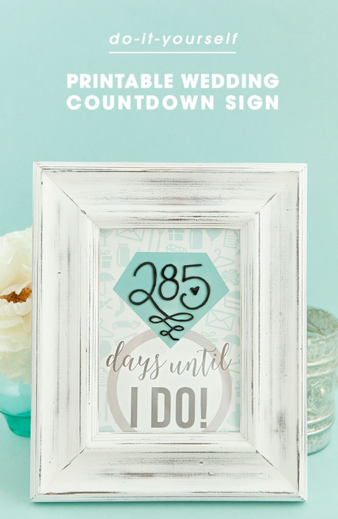 picture about Countdown Printable known as Do-it-yourself The Highest Lovely \