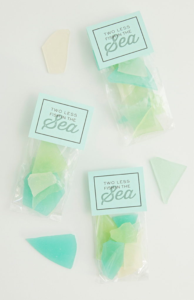 This is the best tutorial for how to make sea glass hard candy favors!