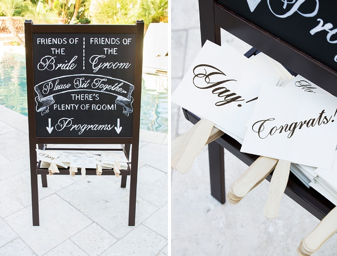We love these darling wedding programs!