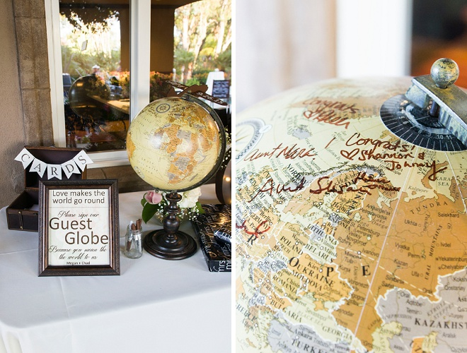 Dying over this adorable globe guest book idea!