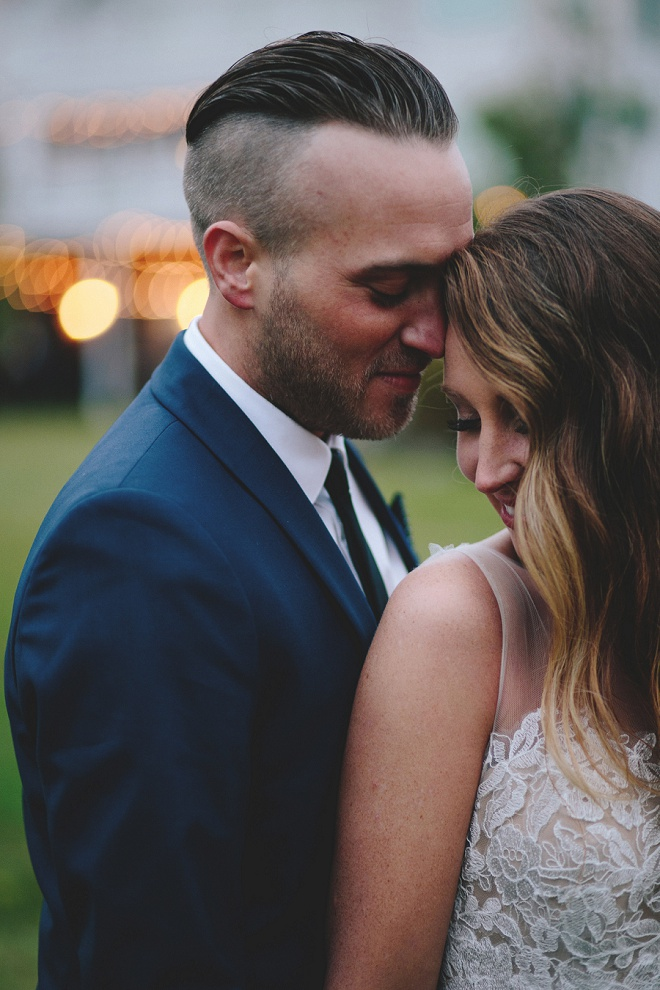 We're swooning over this darling couple and their backyard wedding!