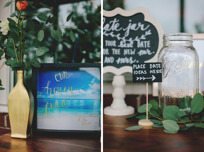 Such a sweet guest book table!